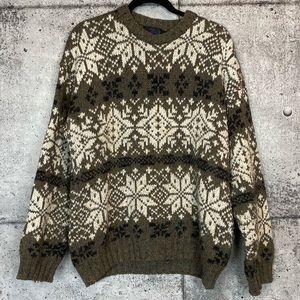 Vintage // Chunky Knit Fair Isle Sweater